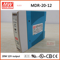 MDR-20-12 Meanwell 20 W 1.67A 12 V ac para dc Din rail mounted Power supply MDR-20