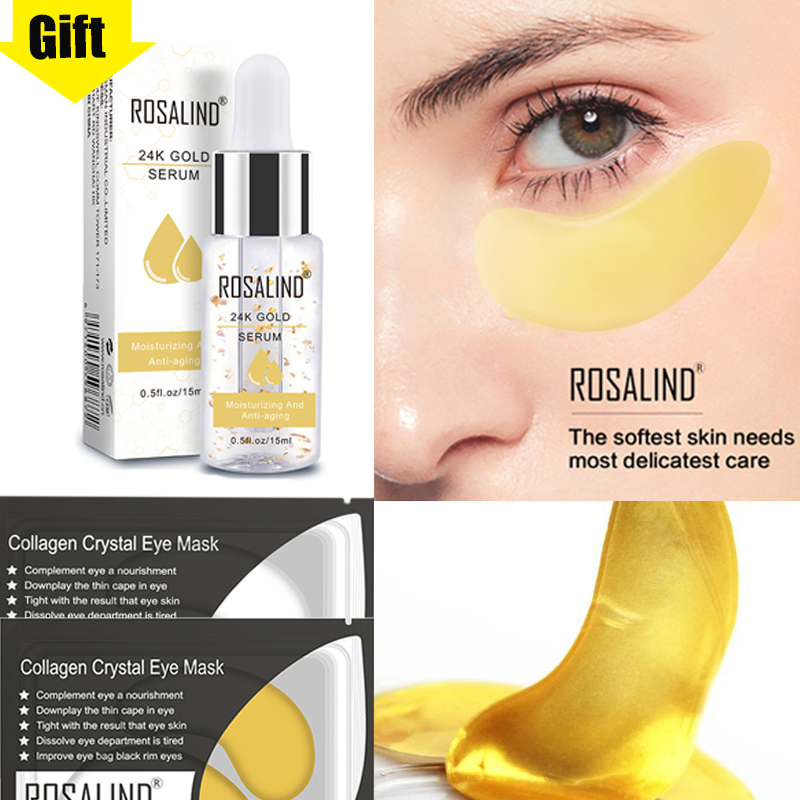 ROSALIND Gold Collagen Eyes Mask 5/10pairs Eye Patches Cream Ageless Anti Wrinkle From Bags Remove Dark Circles
