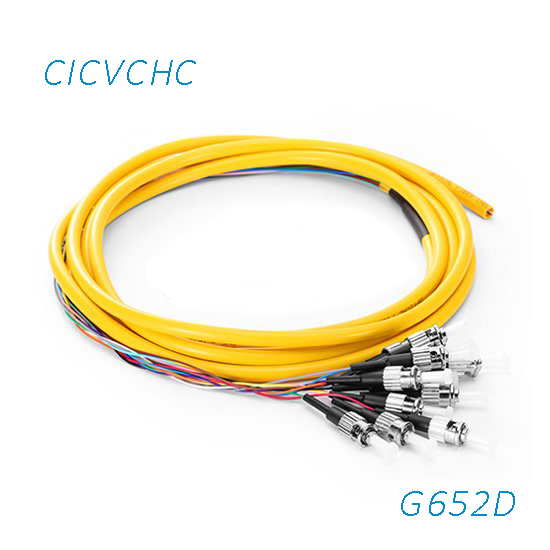12C Cable with FC/UPC G652D Pigtail-PVC-1.5m-Yellow / Optical Fiber Pigtail