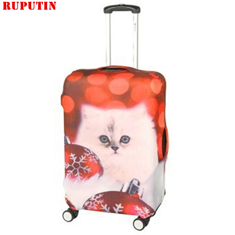 RUPUTIN Lasticity Stretch Trolley Case Dust Cover Travel Suitcase Protective Trunk Covers 22-28 Inch Animal Pattern Dust Cover