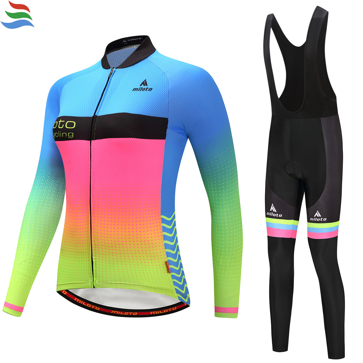 Miloto Women Spring Autumn 2017 GEL team pro long Sleeve Bicycle Cycling Clothing Bike sport Maillot Ropa Ciclismo #631