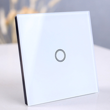 EU/UK Standard Wall light touch switch, Wireless Remote Control touch Switch, Crystal Glass panel 1/2/3 Gang 1 Way Smart switch