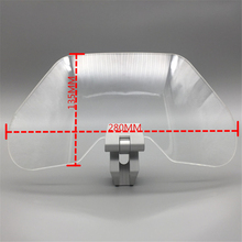 Air flow adjustable windshield air deflector transparent variable vane blade suitable for motorcycle universal