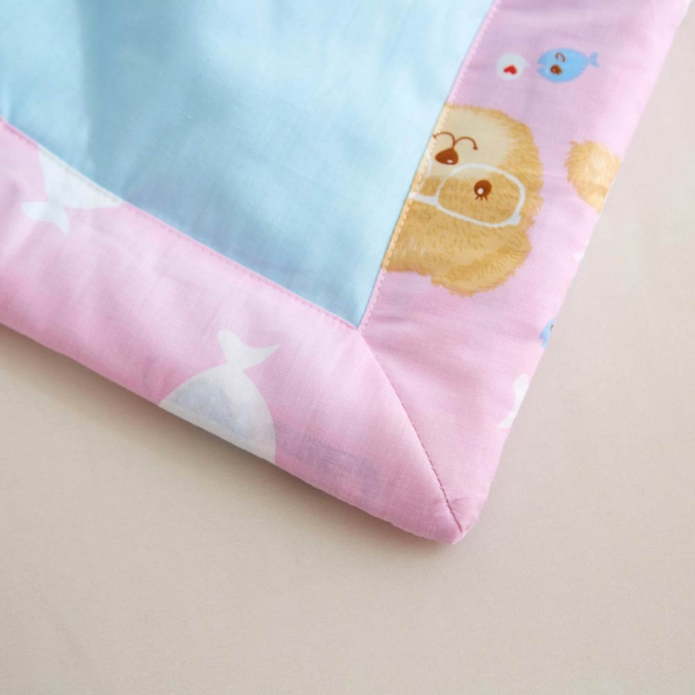 2019 Teddy Bear Toys Blue Quilt Cotton air condition Quilted Thin Comforter Summer Throws Blanket Twin Full Queen Size in Quilts from Home Garden