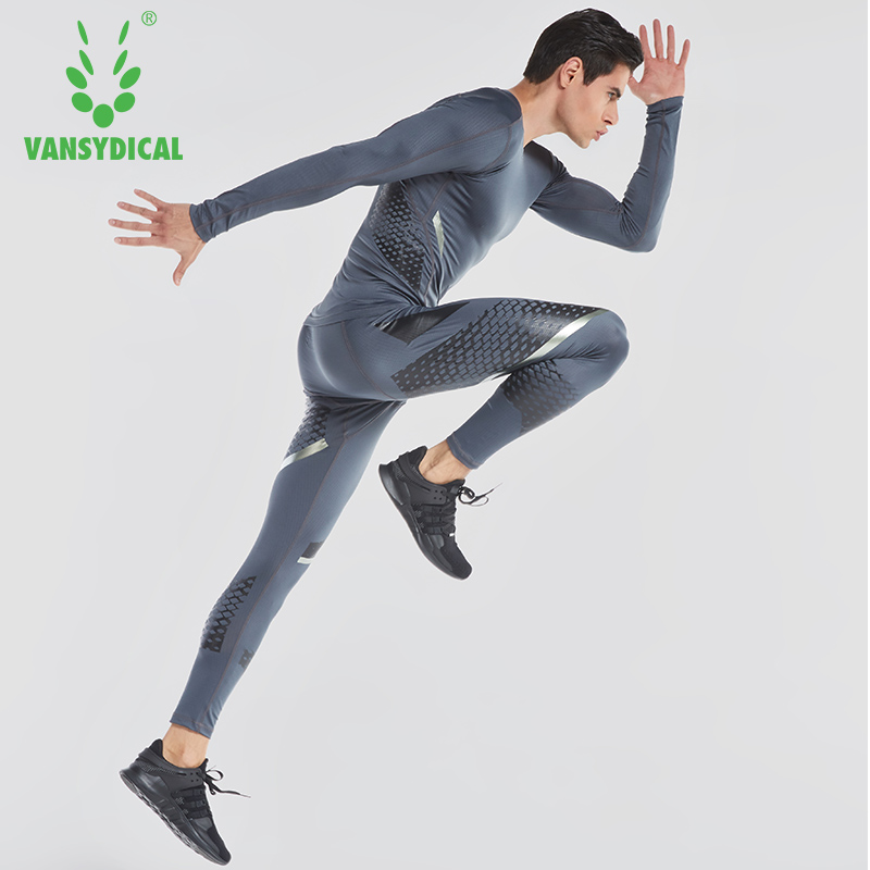Mens Running Set Fitness Training Clothes Long Sleeve Compression Shirt & Pants Quick Dry Sportswear Skin-Tight Base LayerMens Running Set Fitness Training Clothes Long Sleeve Compression Shirt & Pants Quick Dry Sportswear Skin-Tight Base Layer