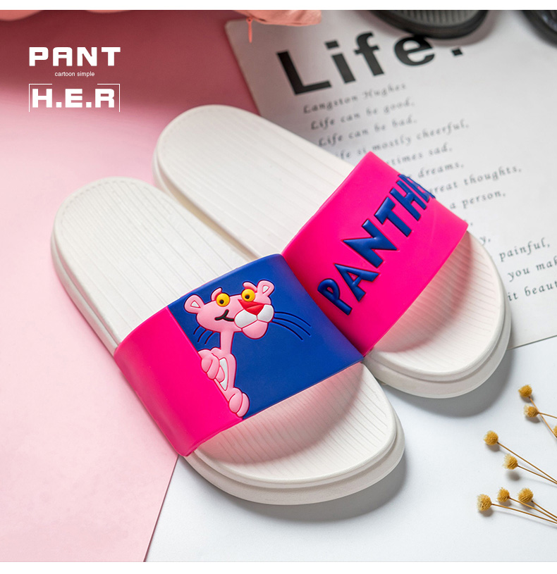18 summer slippers women sandals Pink Leopard lovely Ladies sandals Non-slip Beach female flip flops Woman Shoes Slides 4