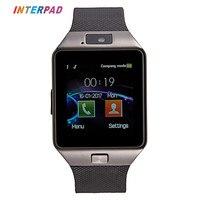 Interpad Bluetooth DZ09 reloj inteligente Relogio smartwatch Android llamada telefónica SIM TF cámara para iOS iphone samsung vs GT08 Q18