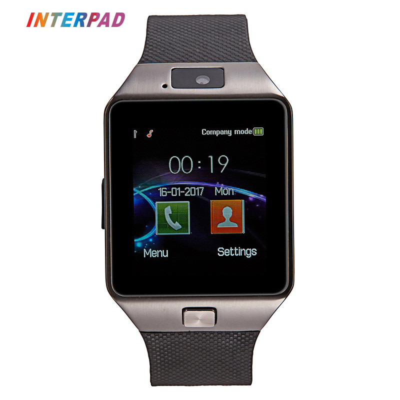 Interpad DZ09 Astuto Della Vigilanza Relogio Android Smartwatch Bluetooth Phone Call SIM TF Della Macchina Fotografica per IOS iPhone Samsung VS GT08 Q18