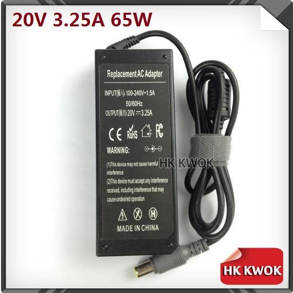 20V 3.25A AC Laptop Adapter Power Supply For Lenovo/IBM T60 T60p T61 T61p X60 R60 Z60 Z60M Z60T Z61e Z61m Z61p Laptop Adapter
