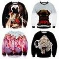 Ropa juvenil de béisbol ropa de estampados de animales en 3D de alta calidad suéter tendencia hip-hop ropa 12-18 años de edad