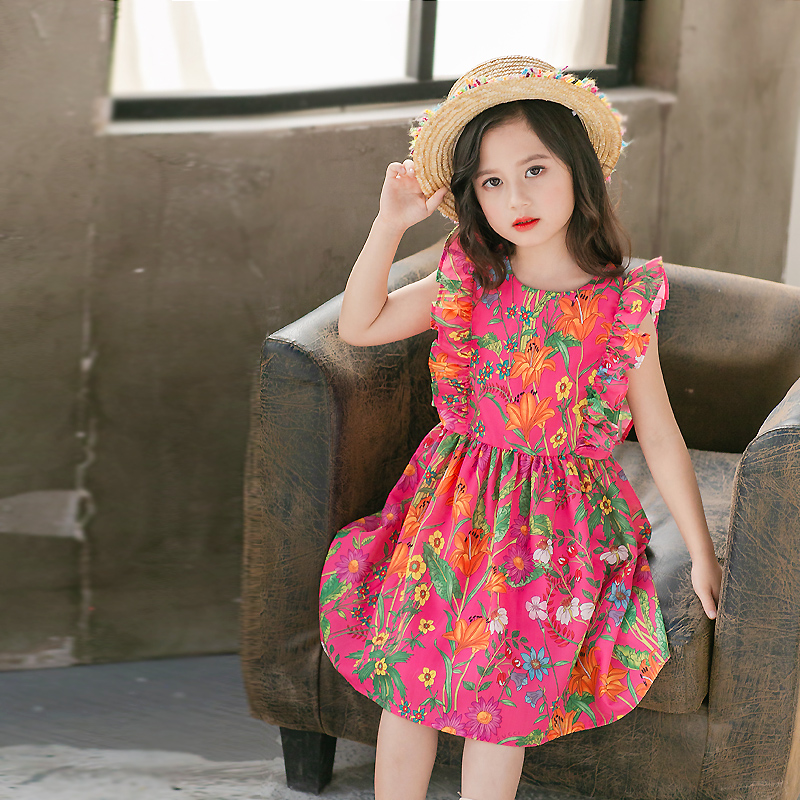 children Summer clothes family sister look mum girl holiday beach flounced dress mini me casual mother daughter matching dresses