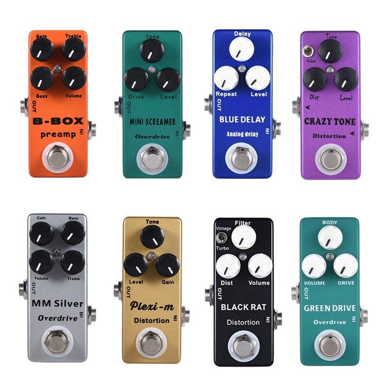 Moskyaudio Mini Pedal efecto guitarra Overdrive, retardo, distorsión, aumento, pedales de preamplificador