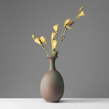Fashion Zen Vase New Chinese Vase Japanese Hand Made Ceramic Flower Vase Living Room Bedroom Desktop Decorative Vase 14