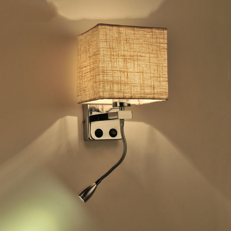 ?_?Modern creative fabric ? led led wall lights cloth lamp stair hotel ??? living living room ...