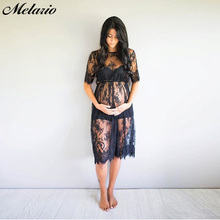 Black Lace Maternity Long Sleeve Dresses