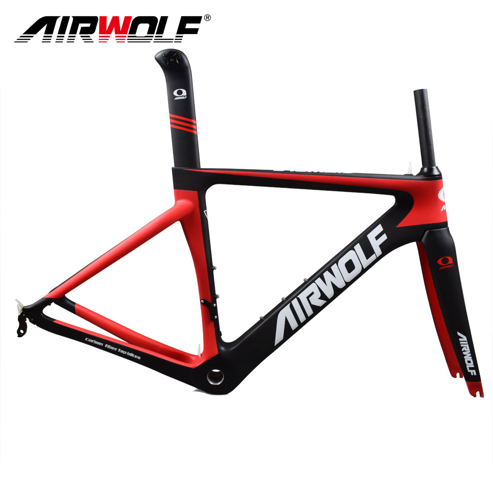 Airwolf Bicycle-Frameset Cycling Carbon Seatpost/headset Both-Di2/mechanical Fit-For