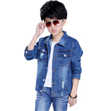 hot deal buy 2018 autumn boys jeans jacket children clothes kids denim jackets coats casual teenage children outerwear 4-11y bc249