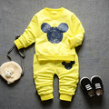 Good quality 2017 Spring Infant Cotton Clothes Sets Baby Boys Girls Suits Casual Style Cartoon T Shirt+Pants Kids Children Suits