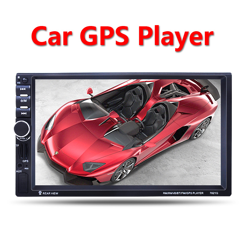 Car Multimedia Player GPS navigation 2 Din 7'' HD Bluetooth Stereo Radio FM MP3 MP5 Audio Video USB Auto Electronics autoradio car gps navigation 7 inch 2 din touch screen auto car fm radio stereo mp5 player support hands free calls 420tvl ir camera