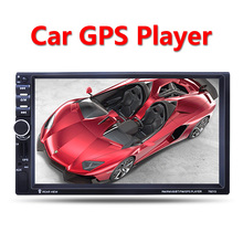 "Car Multimedia Player GPS navigation 2 Din 7"" HD Bluetooth Stereo Radio FM MP3 MP5 Audio Video USB Auto Electronics autoradio"