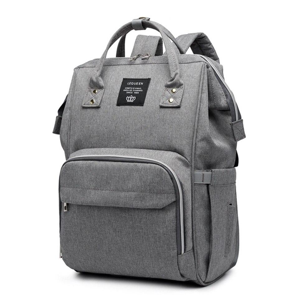 HTB1Vw4fTr2pK1RjSZFsq6yNlXXaV LEQUEEN Diaper Bag Pure Color Men's Mummy Baby Care Nappy Bag 44CM Large Capacity Waterproof Business Backpack Travel Bag