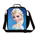 Fashion Snow Queen Cartoon Children Lunch Bags Anna Elsa Princess Lunch Box Girls Lunch Tote Womens Small Food Bag For Working