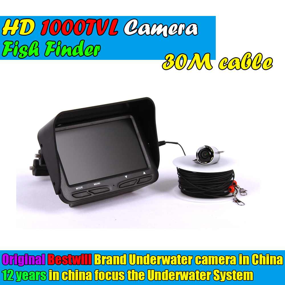 Visible Video Fish Finder River Lake Sea Real-time Live Underwater Ice Video Fishfinder Fishing Camera IR Night Vision 30m cable