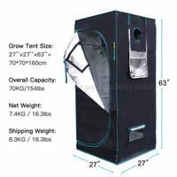 MarsHydro Reflective Mylar Hydroponic Grow Tent Grow Room Indoor Plant Growing 70X70X160cm USA UK Canada Australia