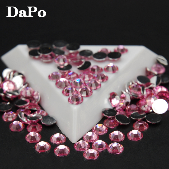 Light Pink Rhinestones Acrylic Flatback Non Hotfix Stones 3D Nail Art DIY Jewelry Crafts Clothing Supplies