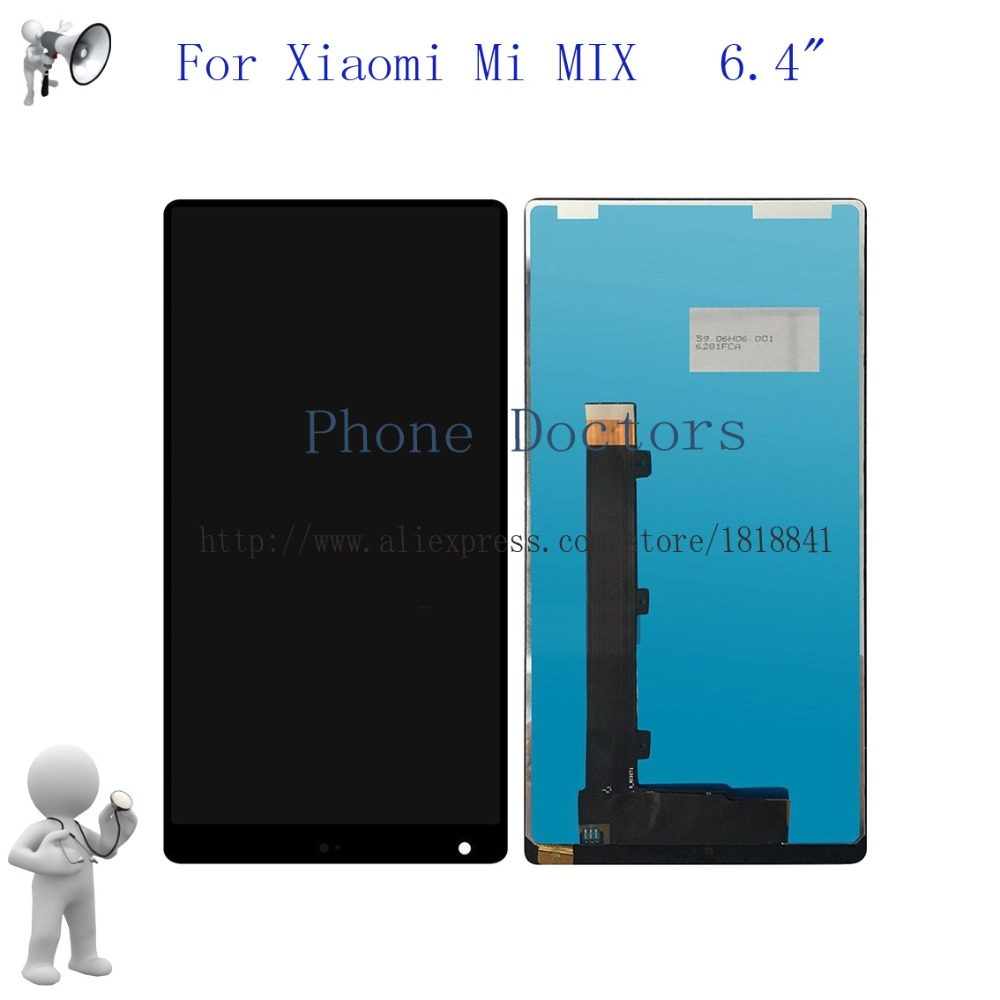 6.4 For Xiaomi Mi Mix Full Touch Screen Digitizer Glass + LCD Display Assembly For Mi concept phone New 1080x2040 LCD Replace6.4 For Xiaomi Mi Mix Full Touch Screen Digitizer Glass + LCD Display Assembly For Mi concept phone New 1080x2040 LCD Replace