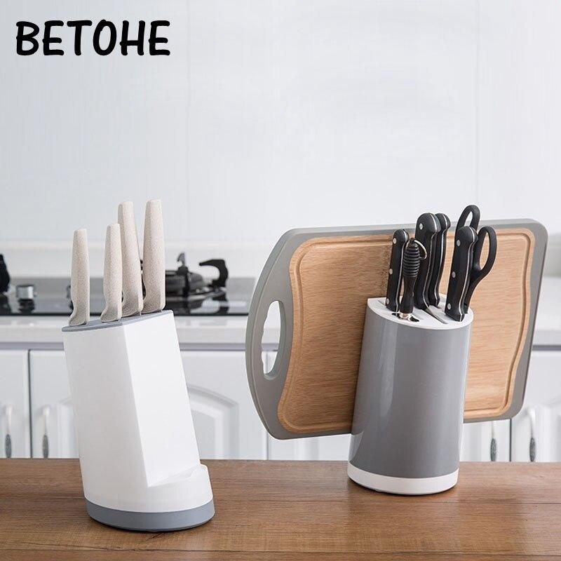 BETOHE Multifunction Knife Holder Plastic Chopsticks Cage Draining Rack Storage Shelf Stand For Knives Kitchen Tools