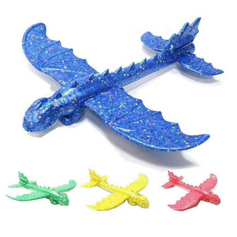 Hand Launch Throwing Glider Aircraft Inertial Foam EPP Airplane Dinosaur Train Dragon Plane Model Outdoor Educational Toys 48cm