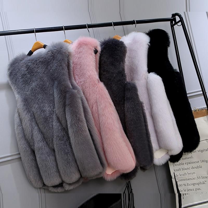 Patchwork Sans pink V Gray Artificielle Taille Longueur Manteau 4xl Femmes Faux White Gray Renard Cou Fourrure Manches Midi Gilet Femme De 3xl La dark Plus black light 6v7xSwqAw