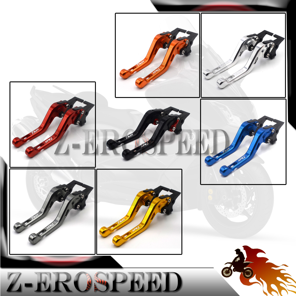High-quality For Yamaha Tmax 500 2005 -2007 Motorbike Accessories  Clutch Brake Lever Short Brake Clutch Levers Aluminum