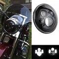 "7 ""Motocicleta ronda 40 W LED Proyector Del Faro H4 H13 Alta luz de Cruce Del Faro Bombilla Para Jeep Wrangler Harley Davidson Touring"