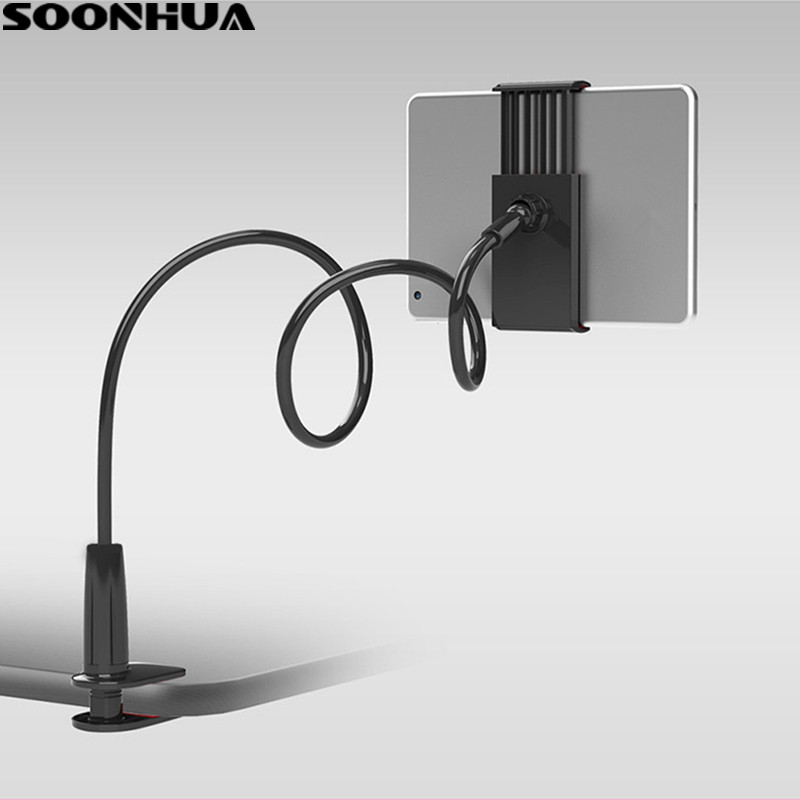 SOONHUA Phone Holder 360 Rotating Flexible Long Arm lazy Phone Holder Clamp Bed Tablet Car Selfie Mount Bracket for 4-10 Phone