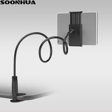 SOONHUA uchwyt telefonu 360 obracanie elastyczne długie ramię uchwyt na telefon dla leniwych zacisk łóżko Tablet Car Selfie uchwyt mocujący dla 4-10 #8222 telefon tanie tanio Uniwersalny Biurko Ze stopu Aluminium ze stopu Aluminium