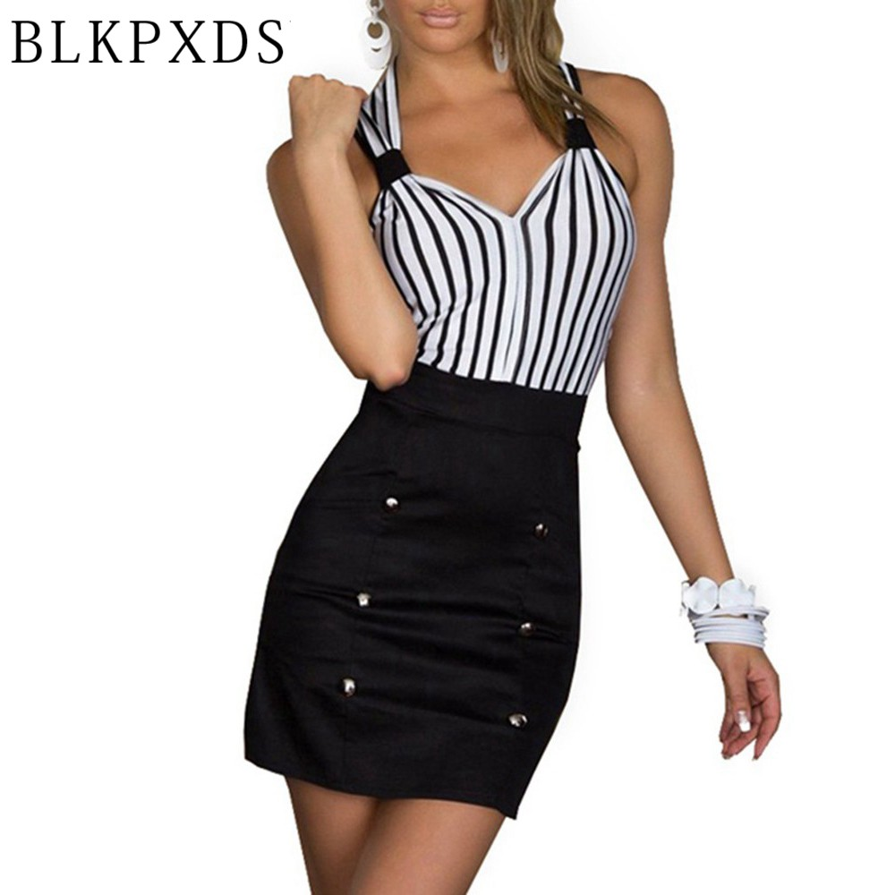 Christmas dress casual - Hot Sale New Fashion Blkpxds Women Clothing Striped Bodycon Sexy Dress Girl Mini Casual Dresses Christmas