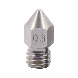 Image 5 - Dysza mk8 części drukarki 3d ze stali nierdzewnej 0.2mm 0.3mm 0.4mm 0.5mm dysza 3d do filamentu 1.75mm