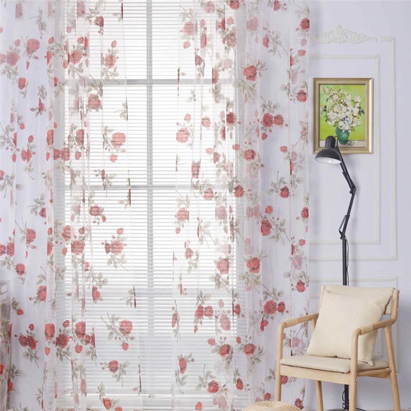 cortinas de flores de tul ventana cocina de casa moderna decoracin de telas de organza