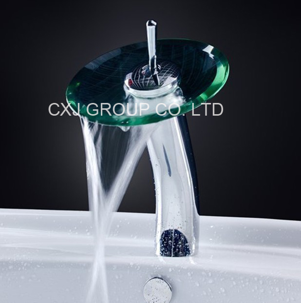 ФОТО Free shipping Brass Round Glass Water tap bathrom faucet Cold and Hot Basin Mixer Faucet For Bathroom torneira para banheiro