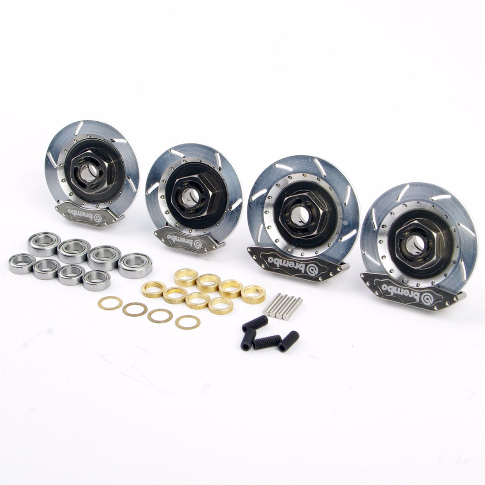 1/10 RC Car Model Accessory Toys Aluminum Alloy Wheel Rim Brake Disc HSP 00145S For  RC On-Road Racing Car   Model aluminum 6 spoke wheel rim for 1 10 rc on road racing car