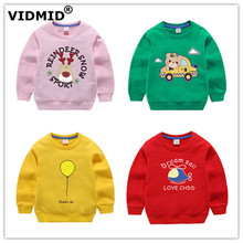 VIDMID Spring girls cotton kids T-shirt Baby sweatershirts hoodie bear Long Sleeve T-shirts Childrens clothing 7060 03