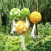 Hot Sale!!! (50cm) Wonderful Big Polyfoam Rose Ball W/Ribbon Hanger Flower Ball Wedding Decoration