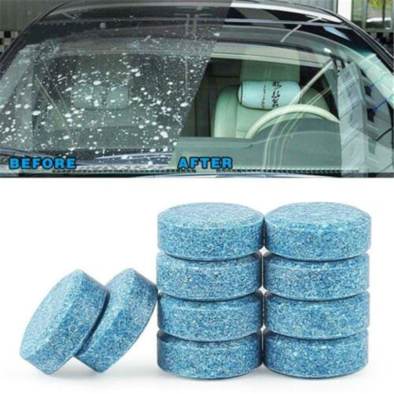10pcs Windshield Tank Wiper Cleaner Pills Super Concentrated Car Washing Solid Effective Washer DROP SHIPPING OK