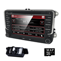 2 DIN Car DVD GPS Radio stereo para VW golf 4 golf 5 6 polo passat jetta tiguan touran sharan caddy t5 volante BT monitor