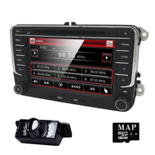 2 DIN Car DVD GPS Radio estéreo párrafo VW golf 4 golf 5 6 polo passat jetta tiguan touran sharan t5 caddy volante BT monitor