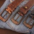 Antique Vintage Cinturón Hebilla de Vaquero Retro Hombres Correa de Metal de Cuero Genuino Punk Cinturón Ceinture Homme Cinturones Hombre MBT0342