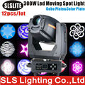12pcs/lot the newest products for sale new gobo 300w led moving head spot Professional Gobo Beam Spot Light with Rainbow Effect