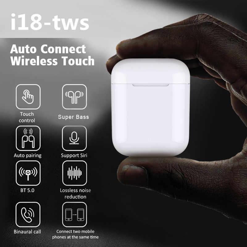Listenvo i18 TWS Touch mini wireless Earbuds Pk W1 chip 1:1 bluetooth  headphone wireless earphone headset i20 i10 TWS LK TE9